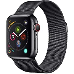 Apple Watch Series 4 de acero inoxidable y pulsera Milanese Loop