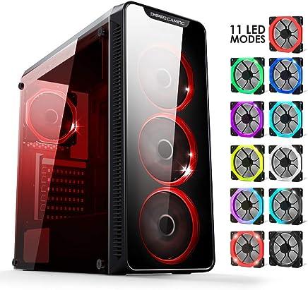 Warmachine EMPIRE GAMING - Case PC Gaming – Midi-Tower ATX - 4 ventole silenziose - LED RGB Dual Ring: retroilluminazione 11 modalità - Pannello frontale e laterale in vetro temperato - Confronta prezzi