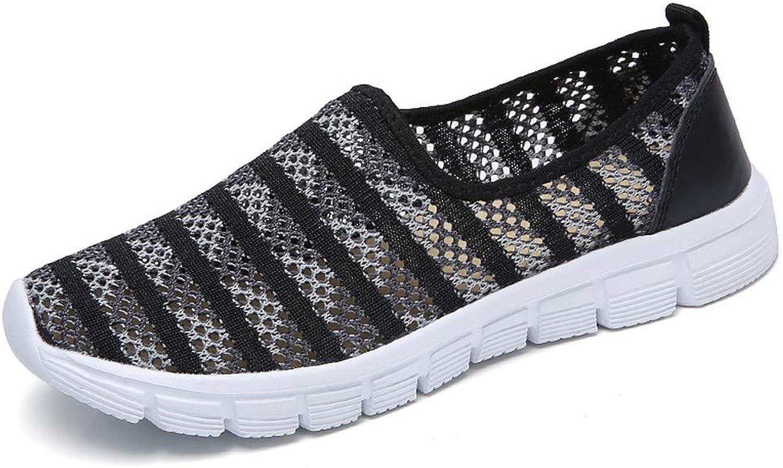 Pophight Fashion Causal Lightweight Breathable Mesh Slip On Running Sneakers