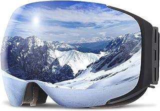 COPOZZ Ski Goggles, G2 Magnetic Snowboard/Polarized OTG UV400 Skiing Goggles