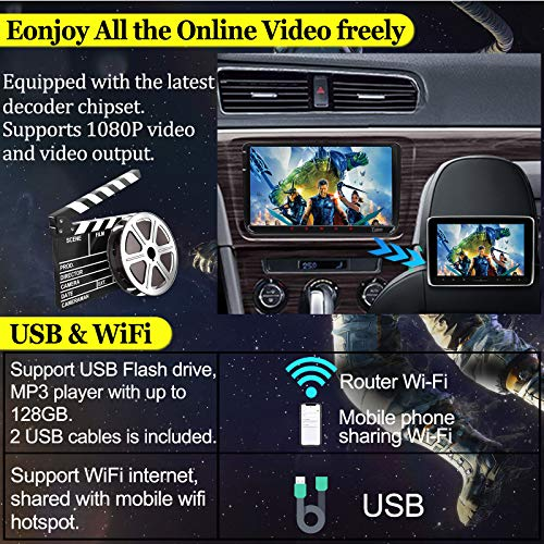 9 pouce Android 10 [2GB+32GB] Double unité principale 2Din pour VW Dans Dash Autoradio Récepteur FM AM RDS Canbus Core GPS Navigation Radio Caméra de recul stéréo