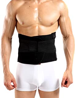 Happy Will Breathable Adjustable Men's Waist Trimmer Waist Trim Belt Lose Weight Tummy Tuck Trimmer Belt Waist Belly Shaper Belt for Men with Stylus L