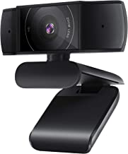 Webcam with Microphone Webcam 1080P, USB Computer Web Camera with Auto Light Correction, Wide-Angle Streaming PC Webcams, ...