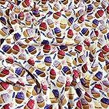 Fabric Styles FS271 Lavendar Cupcakes – Scuba Stoff