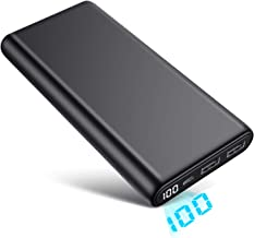 Portable Charger 26800mAh LCD Digital Display Power Bank Huge Capacity External Battery Pack 2 Output Port Cell Phone Charger for iPhone, Samsung Galaxy, Android Phone,Tablet & etc