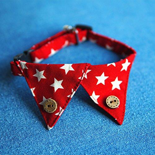 Gazechimp Hundehalsband Krawatte Fliege Schleife für Hunde Katzen Haustier Hundeschmuck - Rot Stern, S