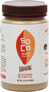 Sponsored Ad - SoCo All Natural Sesame Tahini |Perfect For Making a Creamy HUMMUS -Sesame Seeds Butter | Kosher, Stone Gro...