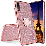 HMTECH Compatible with Huawei Honor 8X Case Glitter Bling