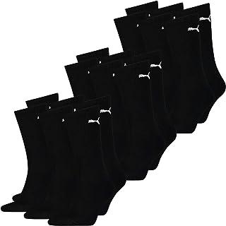 PUMA Calcetines deportivos unisex para hombre y mujer, ligeros, pack de 9, 35-38, 39-42, 43-46, 47-49, color negro, blanco...