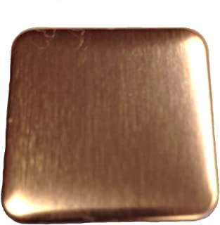 RMP Stamping Blanks, 1 Inch Square with Rounded Corners, 16 oz. Copper 0.021 Inch (24 Ga.) - 10 Pack