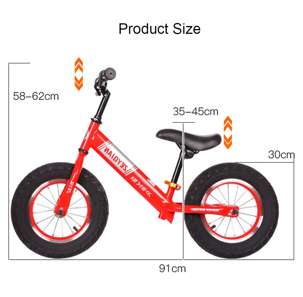 YJF Bicicleta de Equilibrio para niños Bicicleta de neumático sin Pedales Llena de Espuma con Manillar Ajustable y Asiento para niños pequeños de 18 Meses a 6 años,A: Amazon.es: Deportes y aire