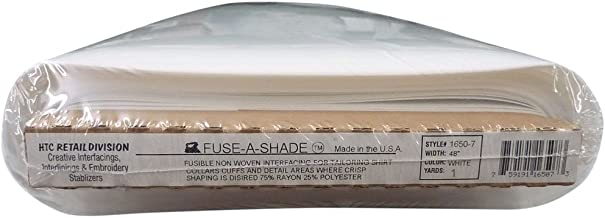 Fuse-A-Shade White HTC1650-7 - 48 Inches Wide, Fusible, Non-Woven Interfacing Sold by The Yard