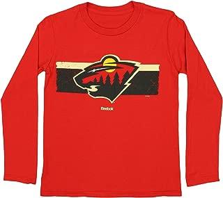 Minnesota Wild NHL Big Boys Youth (8-20) Honor Code Long Sleeve Tee, Red
