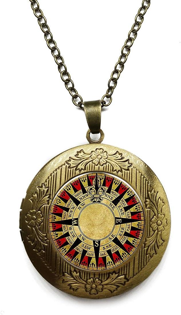 Vintage Bronze Tone Locket Picture Necklace 2021new shipping San Antonio Mall free Pendant Digital Comp