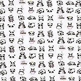 Dekostoff Cretonne Panda – weiss — Meterware ab 0,5m