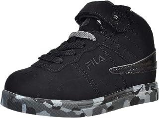 Fila Boys' Vulc 13 Mashup Hi-Top Sneakers - Black/Multi, 9 Toddler