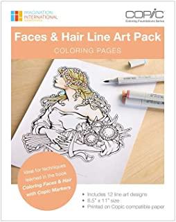 Copic Coloring Foundations Collection: Intro to Coloring Book with Line Art Images (CBLA3)