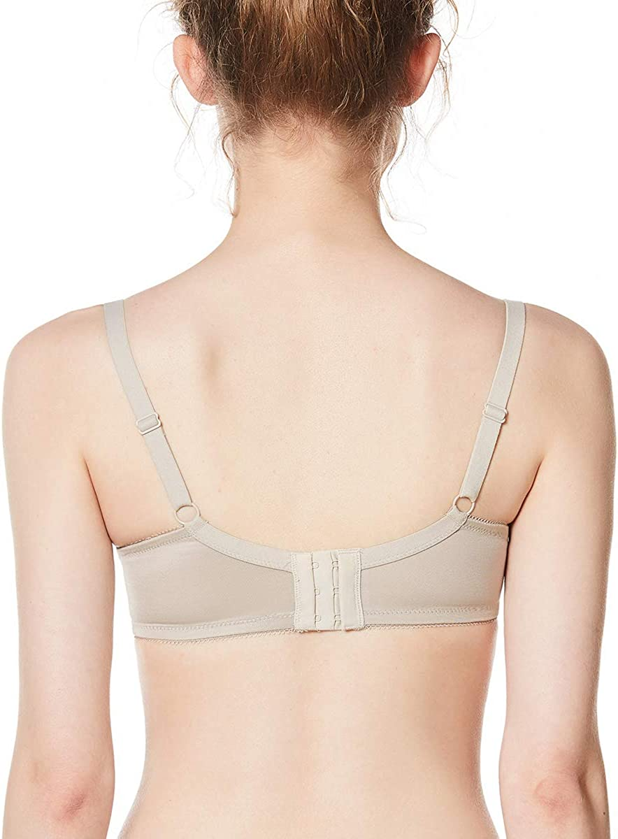 HSIA Womens Underwire Bra Minimizer Lace Foral Bra Unlined Unpadded Plus Size Full Coverage Bra 34C-44DDD