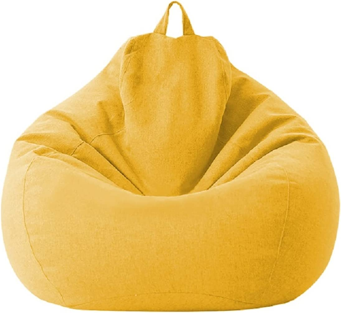 ppqq Comfortable depot Bean Bag Chair Solid Cover with Sofa Lazy Color overseas