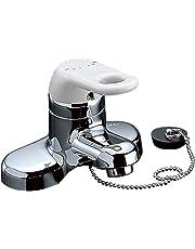 LIXIL(リクシル) INAX 洗面用 台付 シングルレバー混合水栓 ゴム栓式 吐水口長さ95mm RLF-402