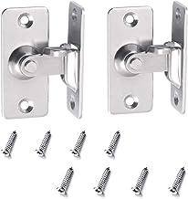 Dancepandas 90 graden haakse deurvergrendeling 2PCS deurbeugel roestvrijstalen deurvergrendeling Deurslot voor badkamer W...
