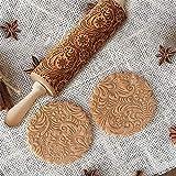 Crazystore Christmas Embossing Nudelholz Backen Kekse Kuchen Gravur Roller (35cm)