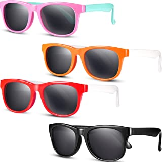 4 Pieces Toddler Sunglasses Kids Polarized Sunglasses...