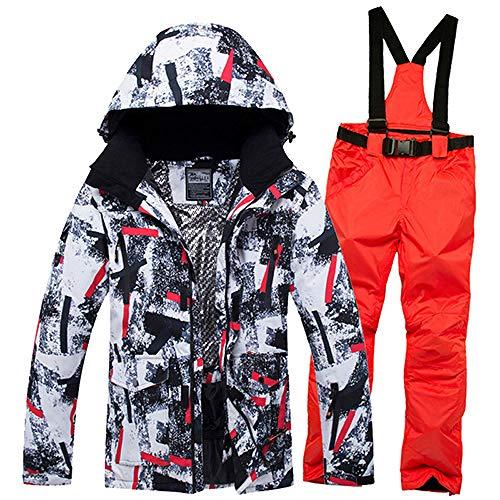 AXIANNV Traje de esquí para Hombres Chaquetas y Pantalones de Nieve para...