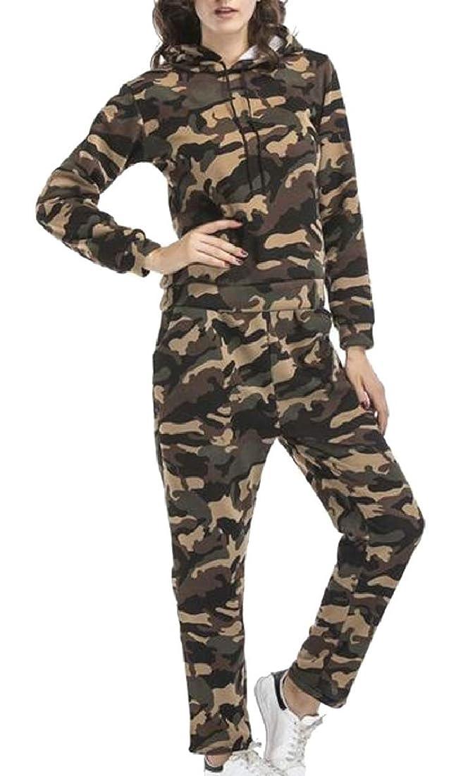 オセアニア怪しいデコレーション女性迷彩プリント2ピースジョギングスーツロングスリーブトラックスーツ