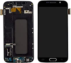LCD Display Touch Screen Digitizer Assembly with Frame Replacement for Samsung Galaxy S6 G920 G920A G920i G920T G920F G9200 Black White (Black)