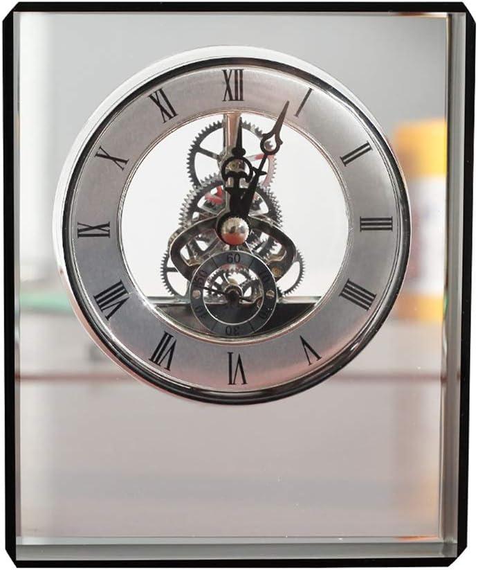 LiPengTaoHome Table Clock Decorative Desk Clock Desk Shelf Clocks Decorative Clocks Shelf Decor Crystal Table Clocks Desktop Decoration Color : Black, Size : 11414cm