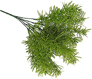 Guoshang Artificial Green Pine Needles Plant Fern Grass Hanging Fake Plants for Home Wedding Decoration