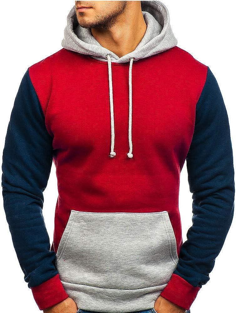 MODOQO Men's Pullover Hoodies Long Sleeve Casual Baggy Lightweight Sweatshirt
