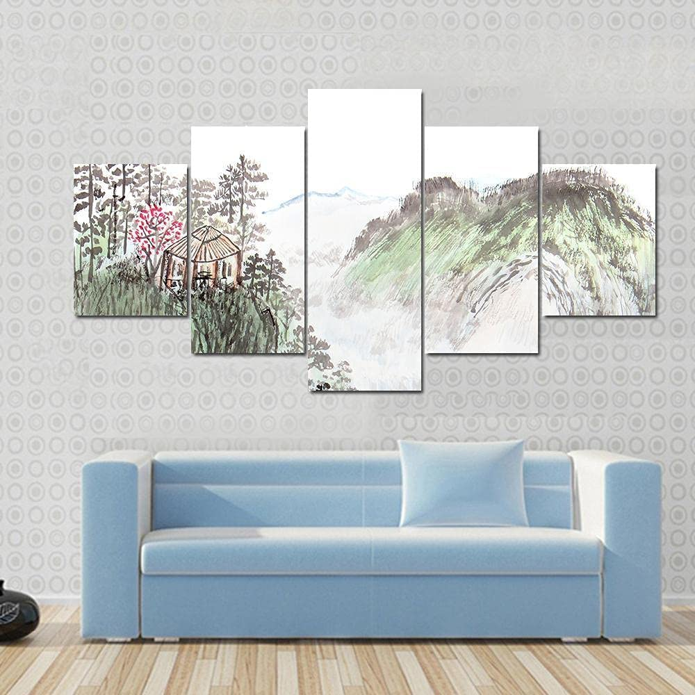 IKLOP unisex Large Pictures for Living Room Paintings favorite Ch 5 Panel Canvas