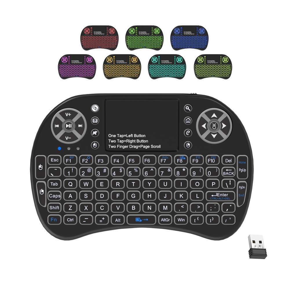 Backlit Keyboard Touchpad Wireless Multimedia