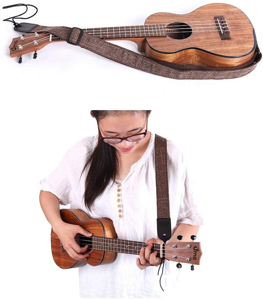 Dunflop Creativa Ukelele Correa Creativo Simple del Algod/ón del C/á/ñamo Ukelele Correa Correa De La Guitarra Ukulele Accesorios Amantes De La M/úsica For Adultos Ni/ños Y Regalo Color : Beige