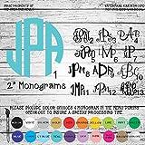 2' Monogram Letters Vinyl Die Cut Decal Sticker for Car Laptop etc.