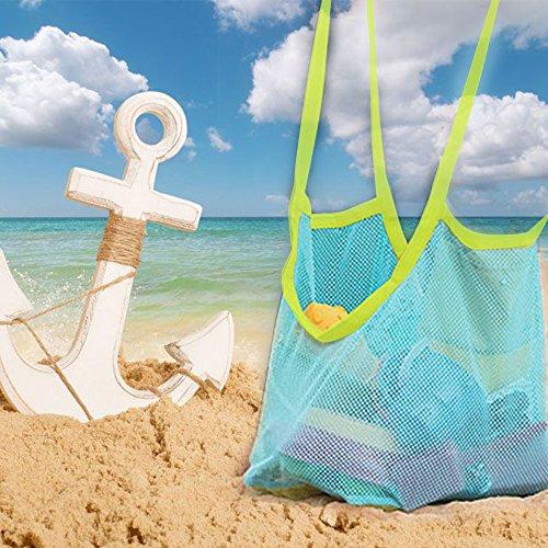 شاطئ حقيبة كبيرة شبكة حمل ظهره اللعب