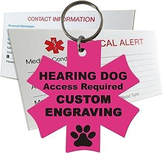 My Identity Doctor Hearing Service Dog Tag Custom Engraved Medical Symbol Plastic