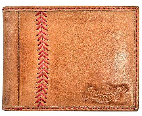 Rawlings Men's Baseball Stitch Bifold, Tan, One Size