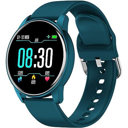 BONKEEY Reloj Inteligente, Smartwatch Mujer Hombre Monitor de Ritmo Cardíaco Presión Arterial y Oxígeno en la Sangre Reloj Deportivo con Monitor de Pasos Calorías, 1.3 inch Pantalla Grande, para IOS y Android