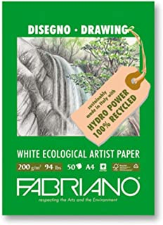 Fabriano Ecowhite Drawing Pad 8.52X11.7 Inches