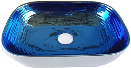 STM Ceramic Wash Basin (17 inches_Blue&White)