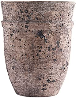 Little Green House Brown Ceramic Decorative Vase - Small