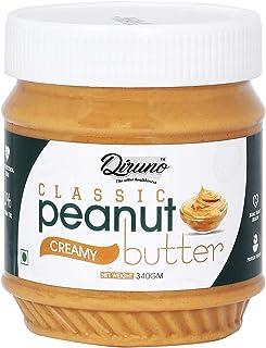 Diruno® Classic Peanut Butter Creamy 340gm(No Oil Separation, Vegan, High Protein,No Stir)