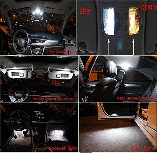 Muchkey 18 piezas LED Canbus no-error libre Bombillas LED para placa de...