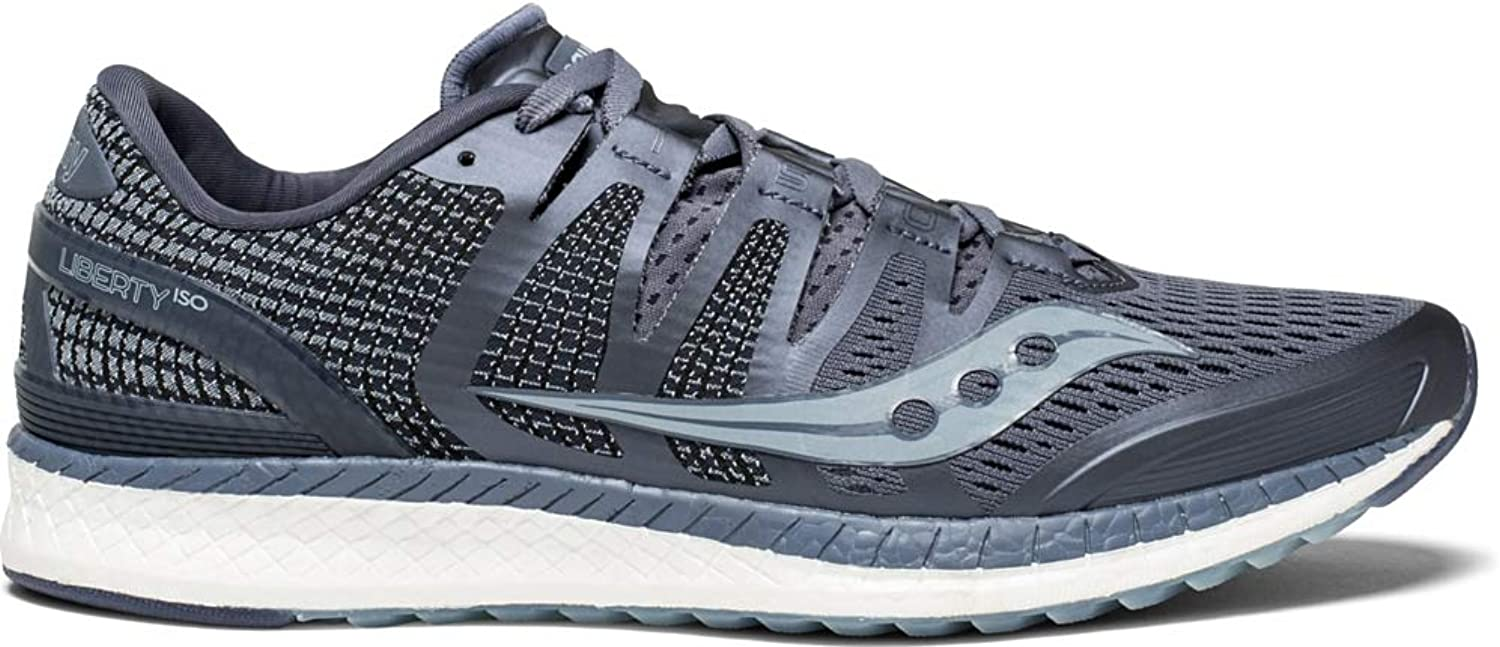 Saucony Mens Liberty Iso Grey Fog Running