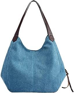 Women's Canvas Handbags Female Single Shoulder Bags Vintage Solid Ladies Totes