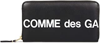 COMME des GARCONS HUGE LOGO WALLET コムデギャルソン 財布 長財布 ラウンドファスナー 本革 ブラック 黒 SA0111HL [並行輸入品]