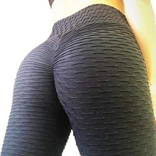 FITTOO Womens High Waist Textured Workout Leggings Booty...